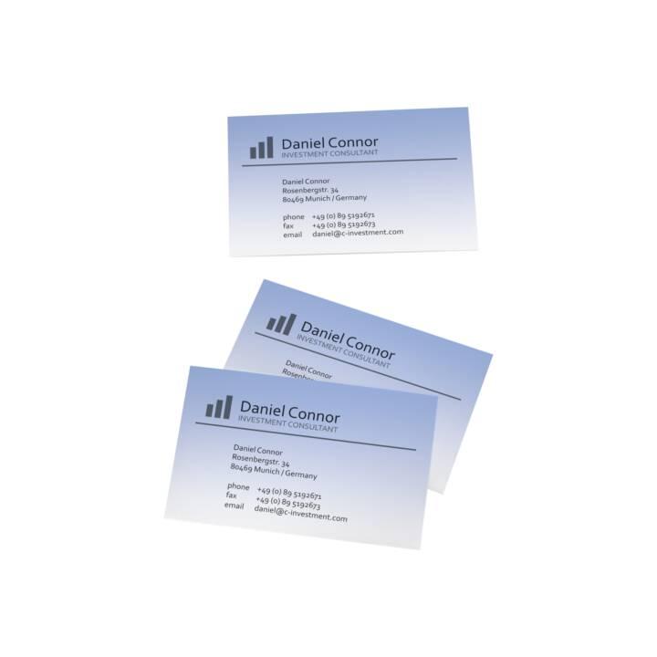 SIGEL Visitenkarten Farbverlauf Blau 85 x 55 mm - 100 Stück