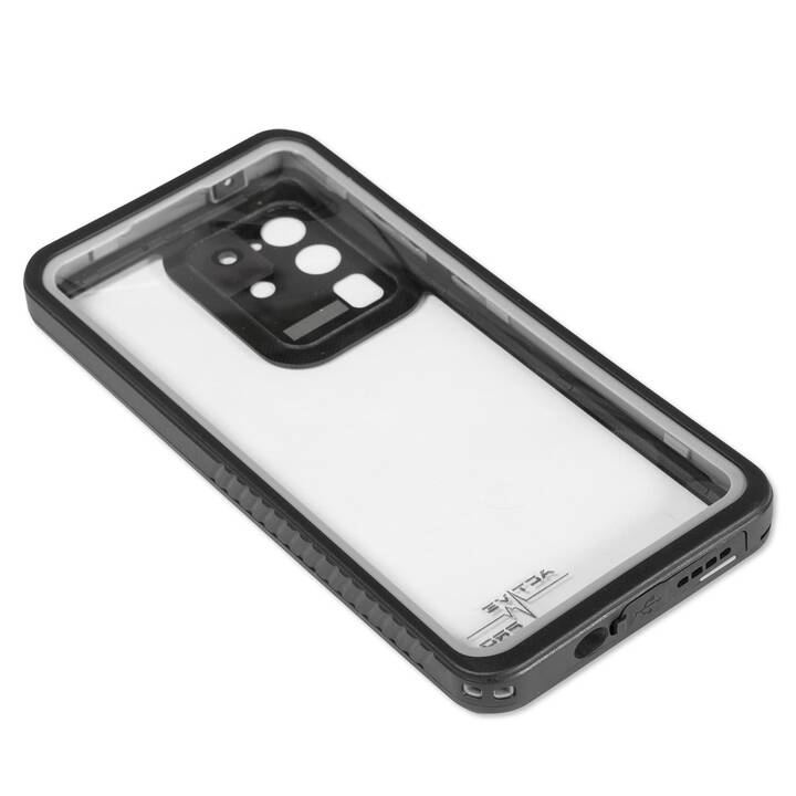 4SMARTS Backcover Active Pro (Galaxy S20 Ultra 5G, Nero, Transparente)