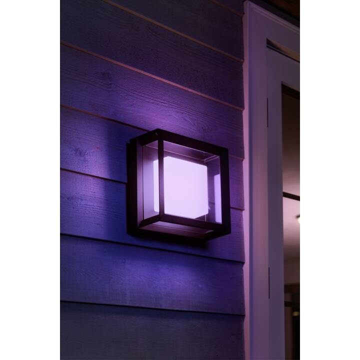 PHILIPS HUE Wandleuchte Econic (LED, 16 W, Schwarz)
