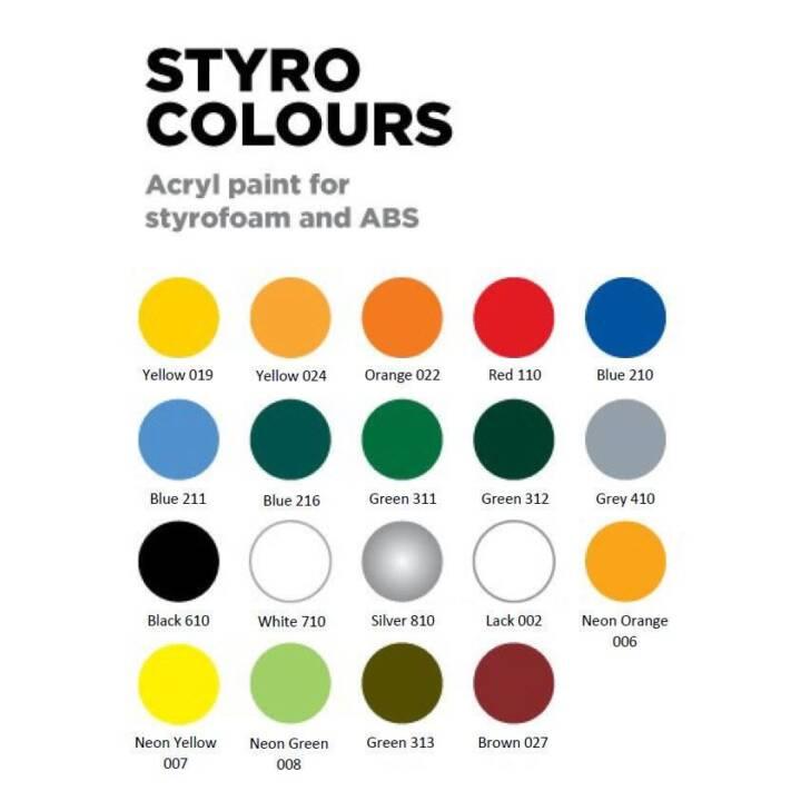 GHIANT RC Styro, Neon Yellow 007, 150 ml
