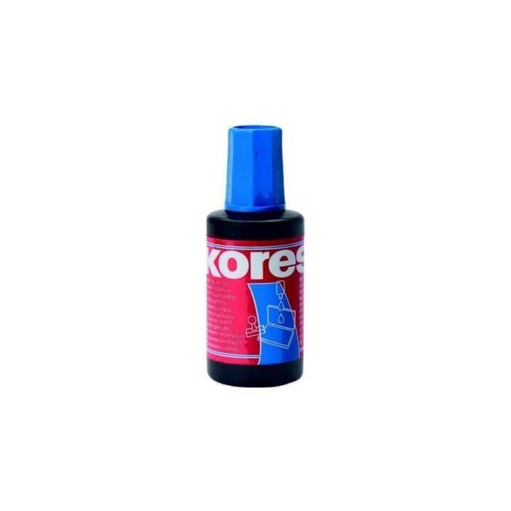 KORES Stempelfarbe blau ohne Öl 27ml