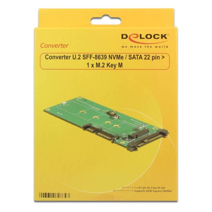 DELOCK Adapterplatine M.2 NVMe - U.2/SATA