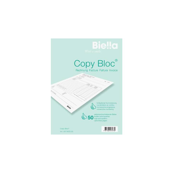 BIELLA COPY-BLOC fattura, A6, 50 x 2 fogli