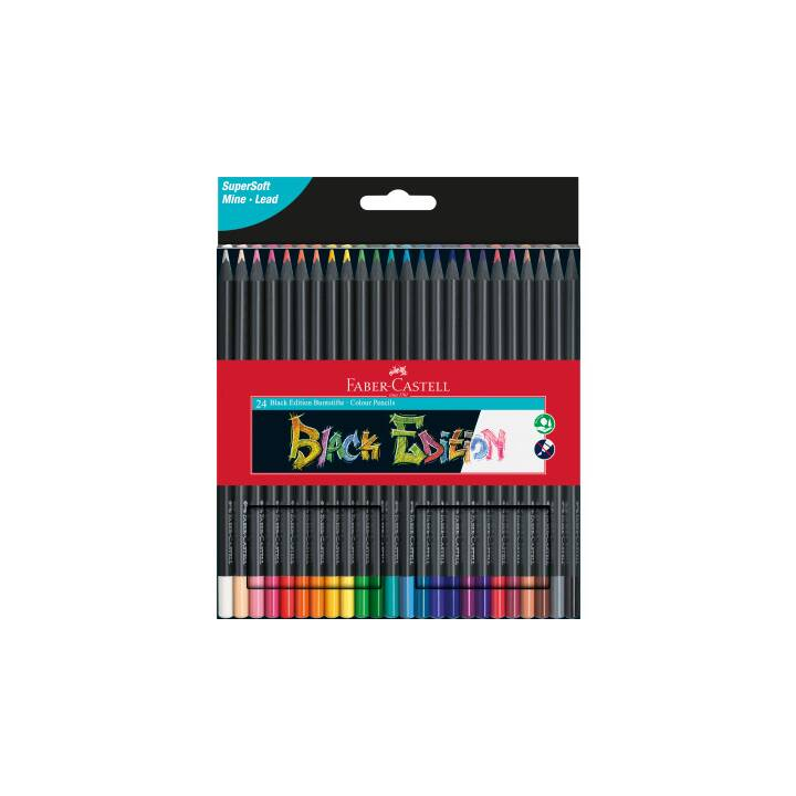 FABER-CASTELL Matite colorate Black Edition (Multicolore, 24 pezzo)