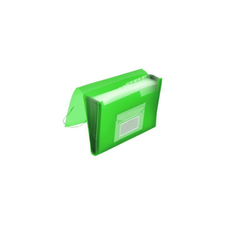 Q-CONNECT Archivio a soffietto (Verde, A4, 1 pezzo)