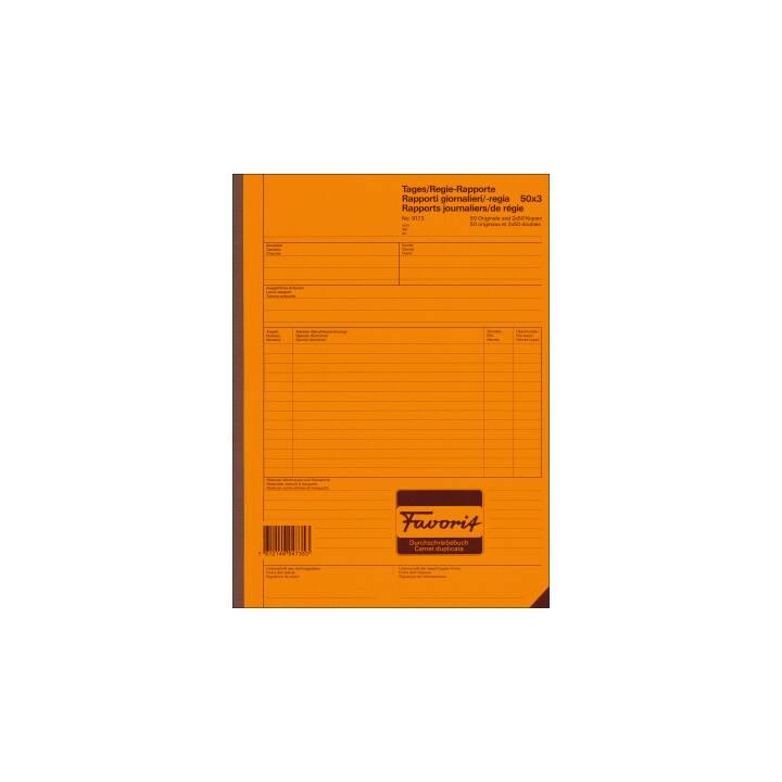 FAVORIT rapport gouvernemental D/F/I A4 blanc/blanc 50x3 feuilles