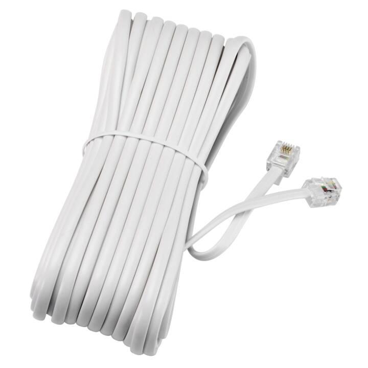 Câble de raccordement INTERTRONIC RJ11 pour téléphone / modem / fax / ADSL