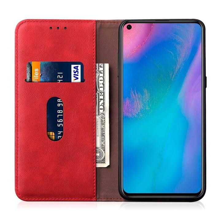 """EG Mornrise Étui portefeuille pour Xiaomi Mi 10 Pro 6.67"""" 2020 - Rouge"""