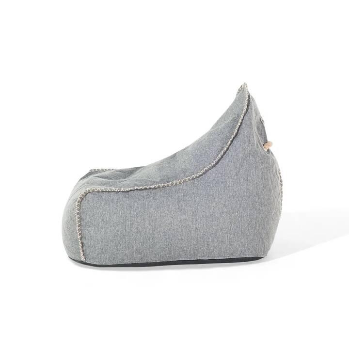 BELIANI Linen Drop Sitzsack (Grau)
