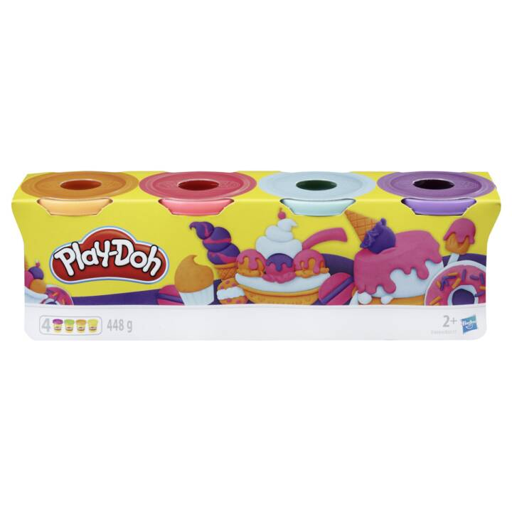 PLAY-DOH Modelage Sweet (4.0 Stk, Orange, Bleu, Pink, Pourpre)