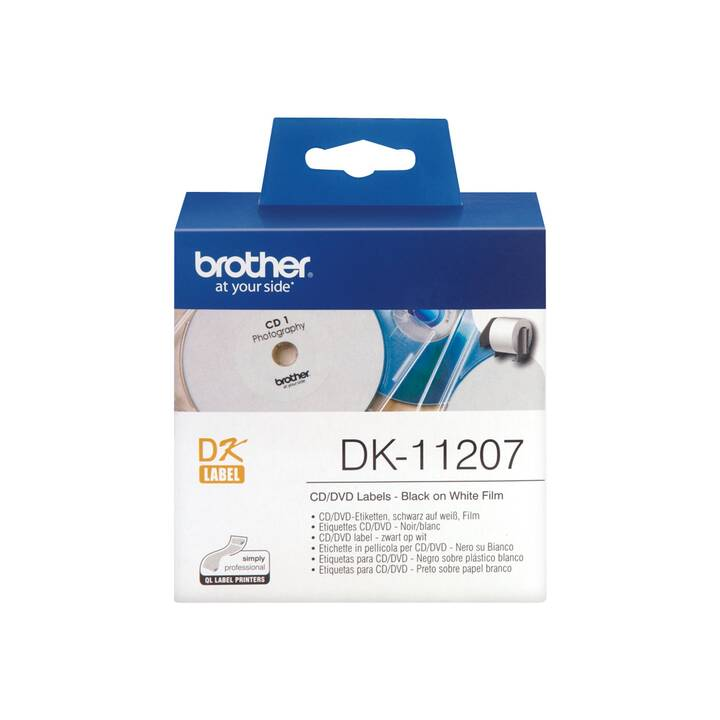 BROTHER DK-11207 CD/DVD Etichette (100 pezzo)