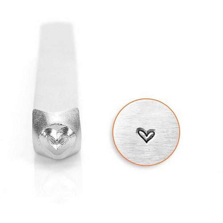 CREATIV COMPANY timbre en relief Coeur fantaisie Coeur