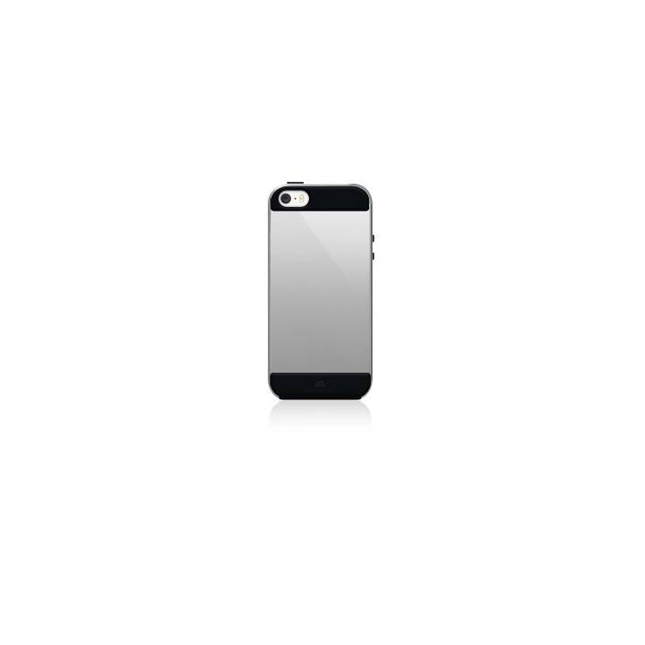BLACK ROCK Backcover Air (iPhone SE, iPhone 5, iPhone 5S, Silber, Schwarz)