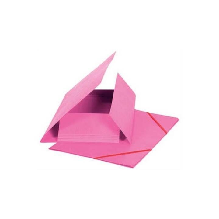 Cartella elastica BIELLA A4 rosa, 355gm2 200 fogli