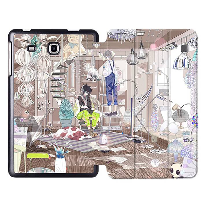 "EG MTT Tablet Bag con Smart Foldable Cover per Samsung Galaxy Tab A6 7 ""Tablet - Comics"