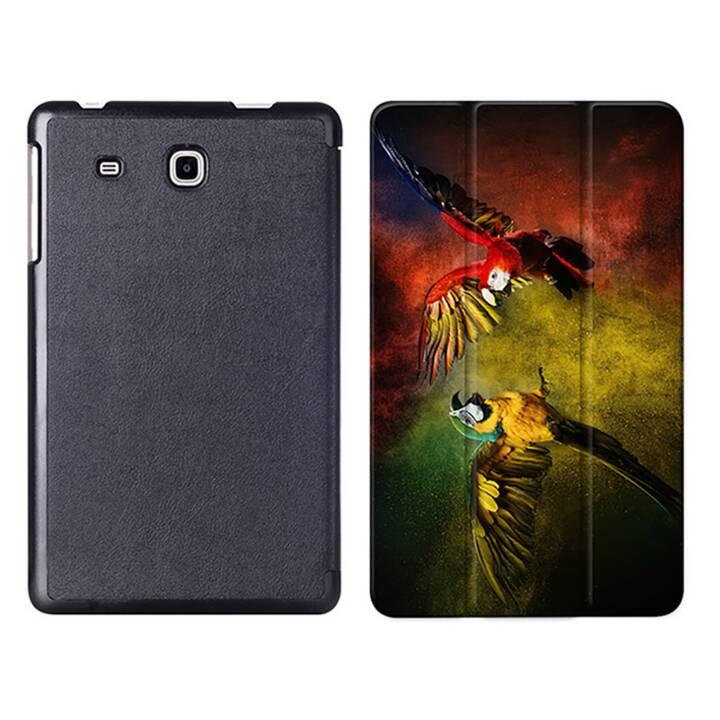 """EG MTT Tablet Tasche mit Smart faltbare Abdeckung für Samsung Galaxy Tab A A6 7 """"- Papageien"""