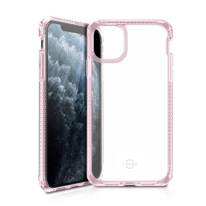 ITSKINS Bumper Hybrid Clear (iPhone 11 Pro Max, Pink, Transparent)