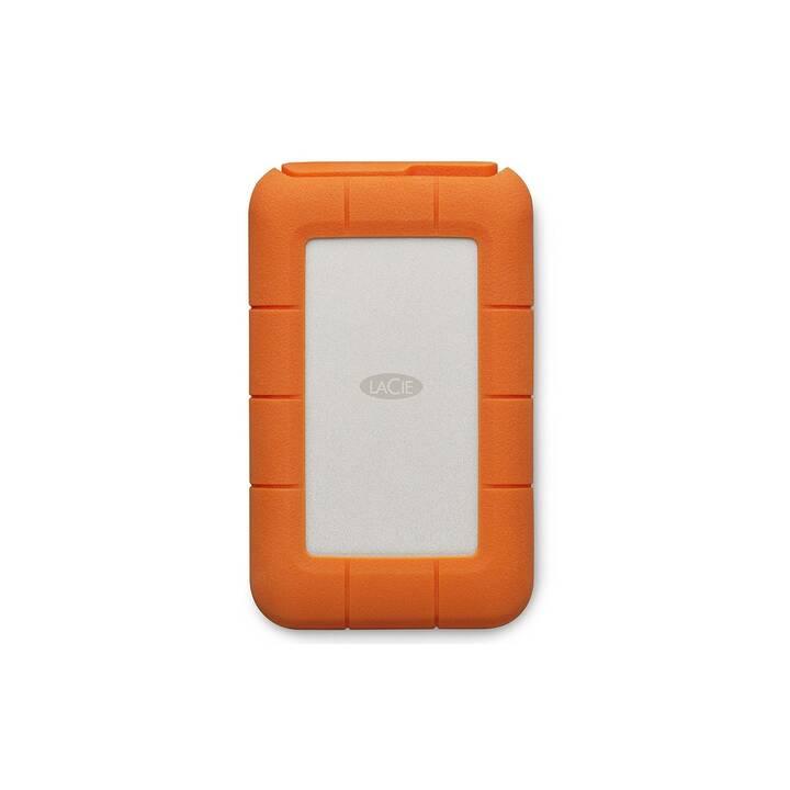 LACIE Rugged Thunderbolt USB-C (Thunderbolt, USB Typ C, 5 TB, Silber, Orange)