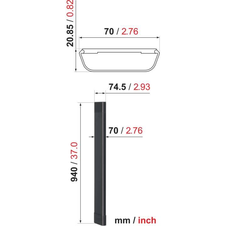 VOGELS Câble 8 blanc Goulotte 94 cm