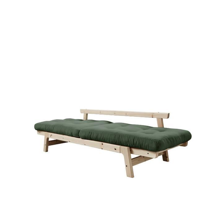 KARUP DESIGN Step Divano letto (Poliestere, Cotone, Beige, Verde oliva, 158 cm x 74 cm)