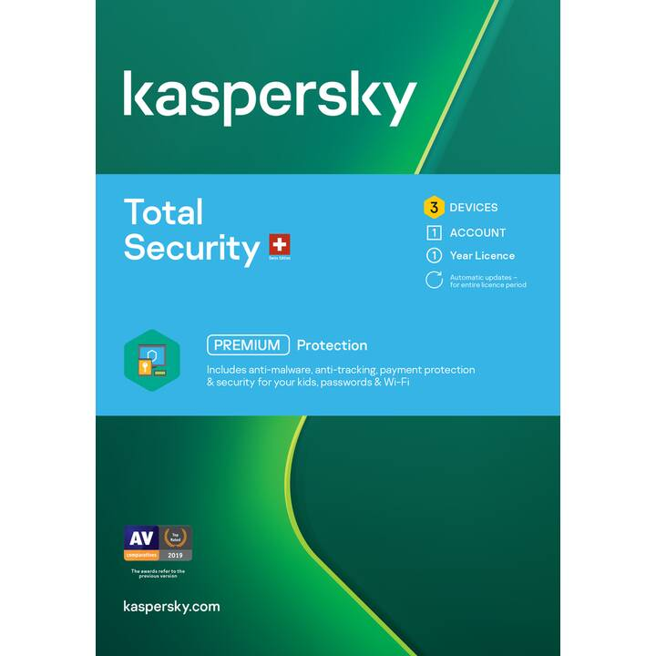 KASPERSKY LAB Total Security Premium (Abbonamento, 3x, 1 anno, Tedesco)
