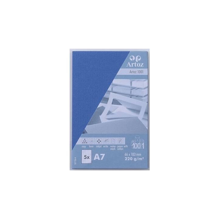 ARTOZ Visitenkarten 1001 A7 Royalblau - 5 Stück