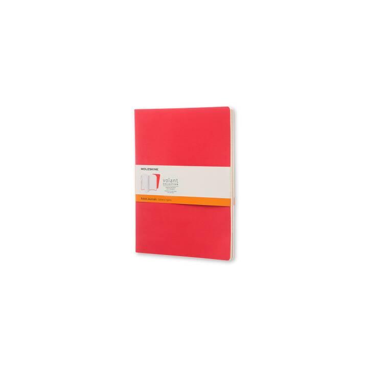 MOLESKINE Volant Notizheft XL rot,liniert 2 Stück