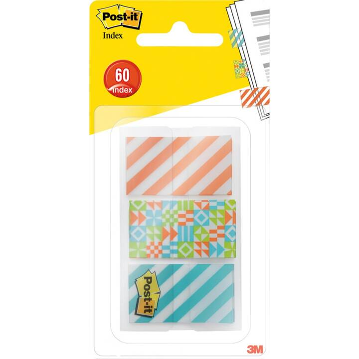POST-IT Notes autocollantes Index Geo Collection (43.2 mm x , Multicolore)