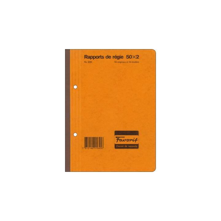 FAVORIT rapports du gouvernement A5 blanc 50x2 feuilles