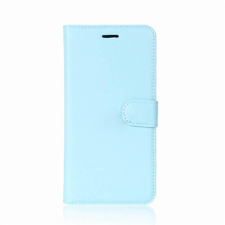 EG Mornrise Custodia a portafoglio per Samsung Galaxy A6 Plus 2018 - Blu chiaro