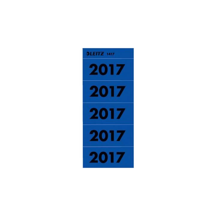 LEITZ Jahreszahl Etikette 2017 blau, 100 Stück