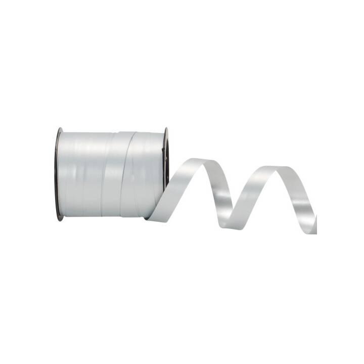 SPYK Nastri regalo (10 mm x 15 m, Argento, Unicolore)