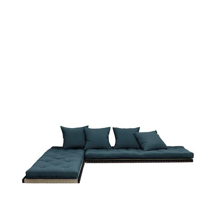 KARUP DESIGN Chico Canapé-lit (Coton, Polyester, Petrol, 200 cm x 80 cm)