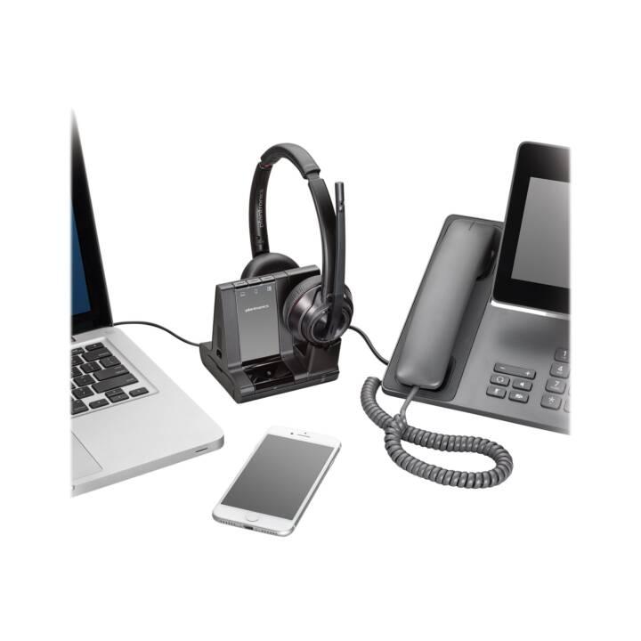 PLANTRONICS Savi 8200 Series W8220-M Casque d'écoute Microsoft