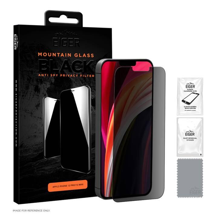 EIGER Verre de protection d'écran Privacy (Clair, iPhone 12, iPhone 12 Pro)