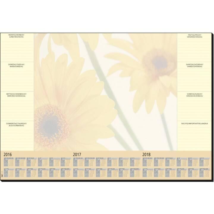 Bloc-notes SIGEL Finesse, 410 x 595 mm avec calendrier et agenda