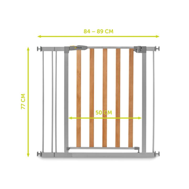 HAUCK Canceletto di securezza per porte Woodlock 2 + 9 cm extension (75 cm - 98 cm)