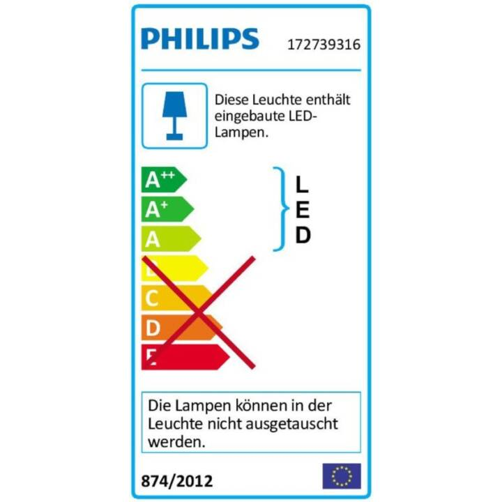 PHILIPS myGarden Racoon Wandleuchte (LED, 3 W, Anthrazit)
