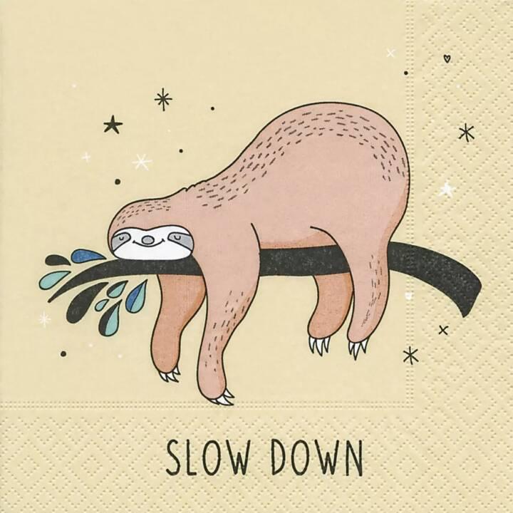 PAPER + DESIGN Serviette en papier Slow down (20 Stk, Animal)