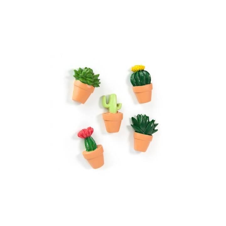 TRENDFORM Magnete Cactus 5er-Set assortiert