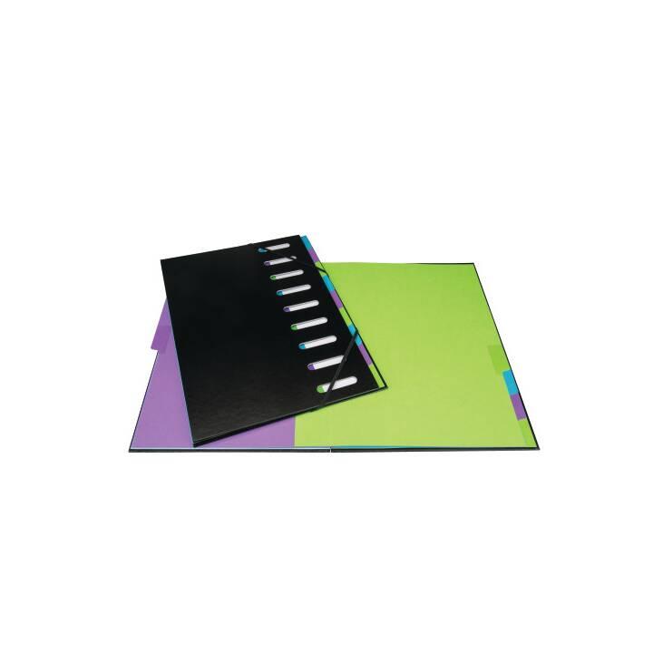 BIELLA Dossier d'index (Noir, Multicolore, A4, 1 pièce)
