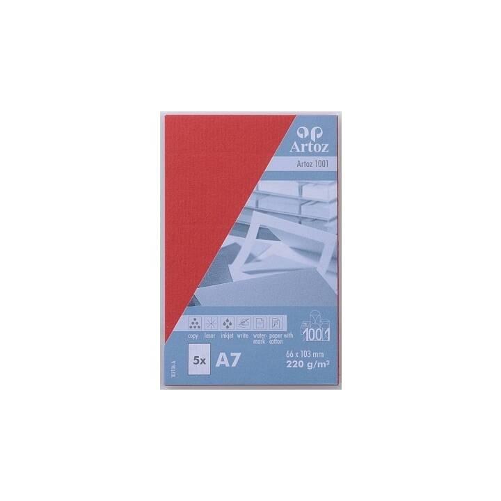 ARTOZ Visitenkarten 1001 A7 Rot - 5 Stück