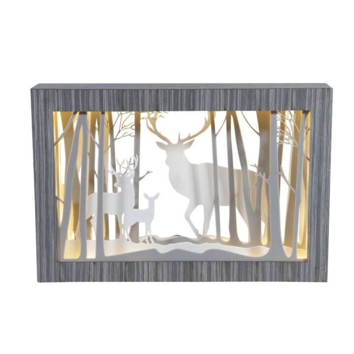 DAMECO Diorama Bild mit Hirsch, 45 cm