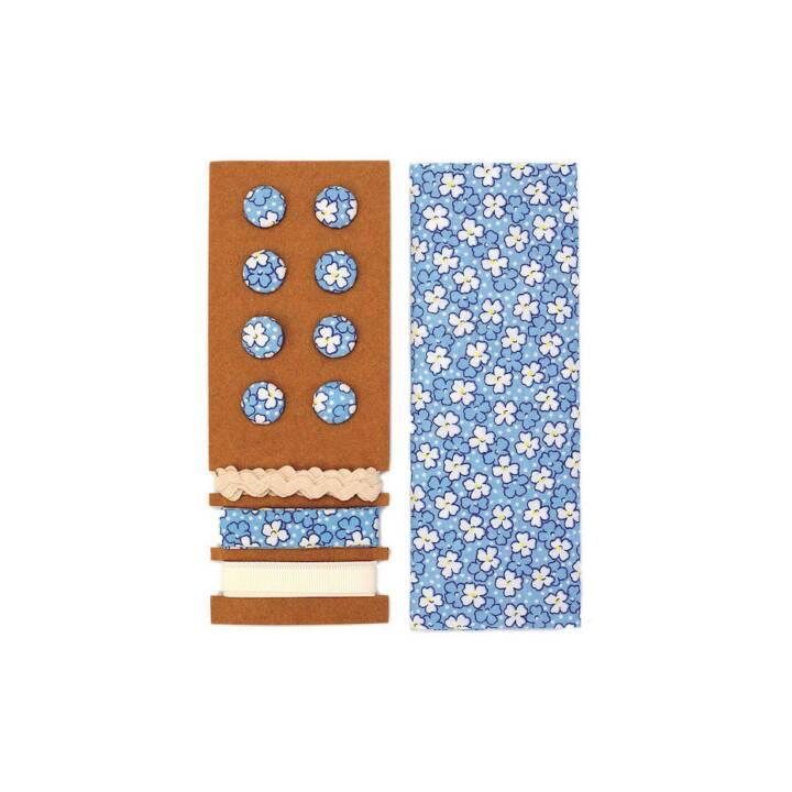 GLOREX Mélange de boutons (Bleu, 8 Pièce)