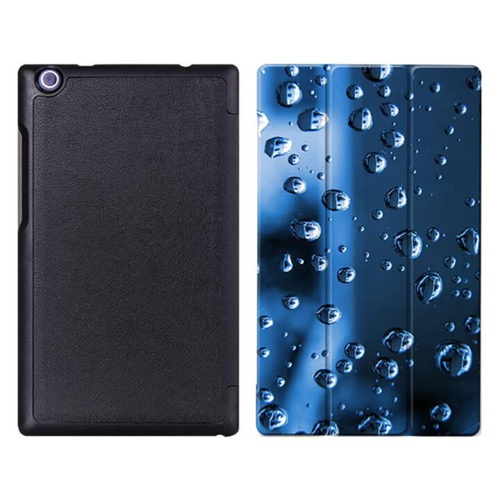 """EG MTT Tablet Tasche mit faltbarer Abdeckung für Lenovo Tab 2 Tab 3 8 """"- Waterdrops"""