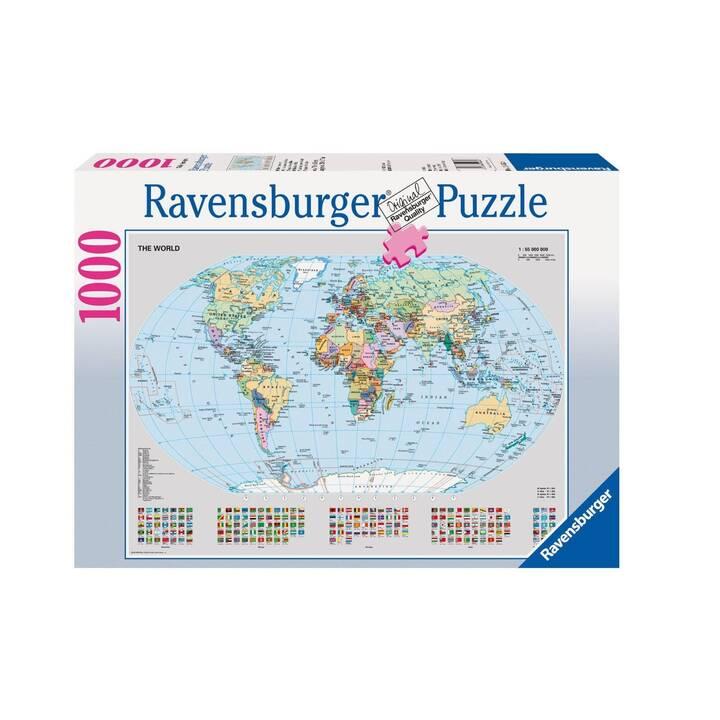 RAVENSBURGER Puzzle di mappa del mondo politico