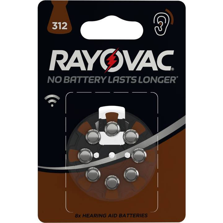 RAYOVAC PR41 Batterie (Aides auditives, HA312, 8 Pièce)