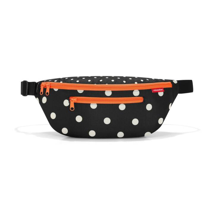 REISENTHEL Beltbag M Mixed Dots (Nero, Bianco, Arancione)
