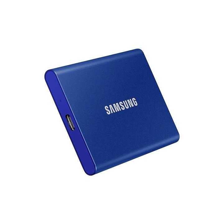 SAMSUNG Portable SSD T7  (USB Tipo C, 2 TB, Blu)