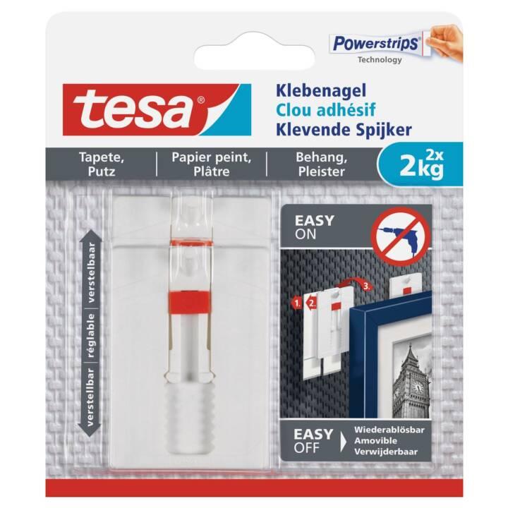 TESA Klebenagel 2 kg für Tapeten + Putz, verstellbar